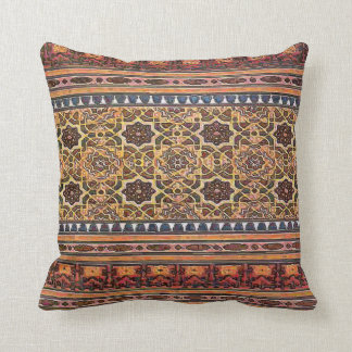 Geometric, Vintage Indian, Moor Tile Look Throw Pillow