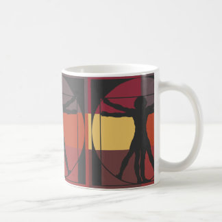 Geometric Vitruvian Man Coffee Mug