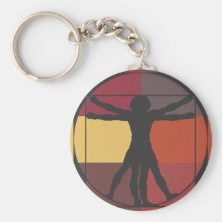 Geometric Vitruvian Man Keychain