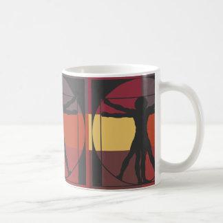 Geometric Vitruvian Man Classic White Coffee Mug