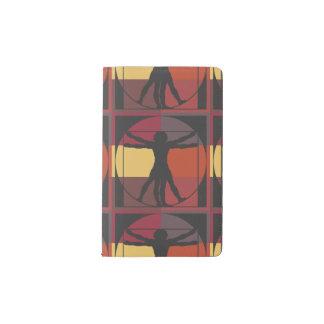 Geometric Vitruvian Man Pocket Moleskine Notebook Cover With Notebook