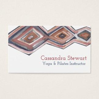 Geometric watercolor business card design