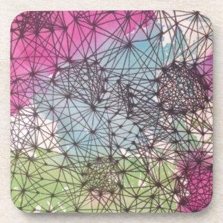 Geometric Watercolor Beverage Coaster