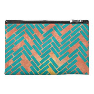 Geometric Watercolor Sunset Zipper Bag