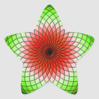 Geometric Watermelon Star Sticker