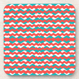 Geometric Waves Pattern Coaster