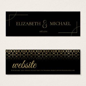 Wedding Themed Geometric Wedding Insert Gold/Black ID477