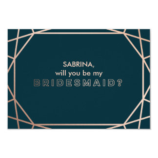 """Geometric """"will you be my bridesmaid"""" card"""