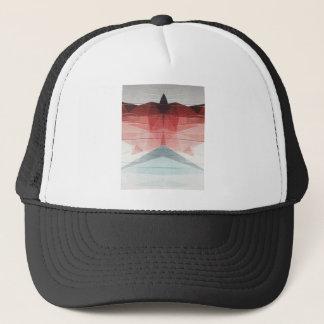 Geometric wink trucker hat