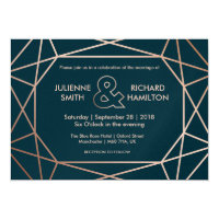 Geometric | Winter Wedding Invitation