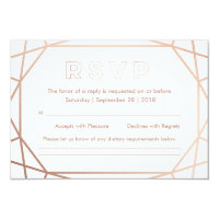 Geometric | Winter Wedding RSVP Card