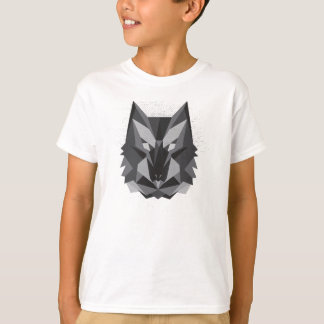 Geometric Wolf Design T-Shirt