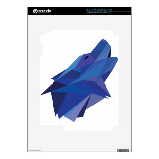 Geometric Wolf Decals For iPad 2