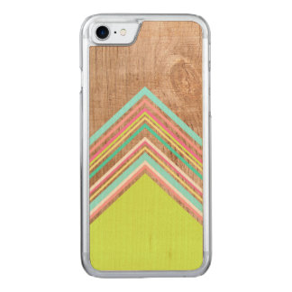 Geometric wood arrow carved iPhone 7 case