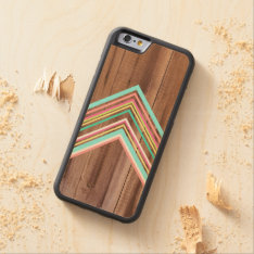 Geometric Wood Arrow Carved Maple Iphone 6 Bumper Case at Zazzle