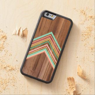 Geometric wood arrow carved® maple iPhone 6 bumper case