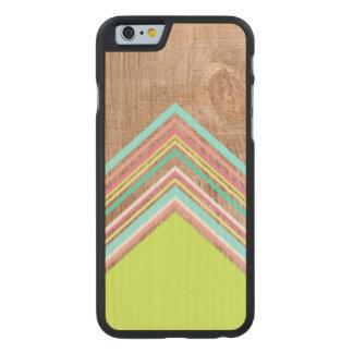 Geometric wood arrow carved® maple iPhone 6 case