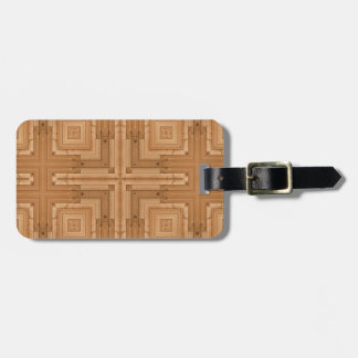 geometric wood design - architect wooden pattern tags for bags
