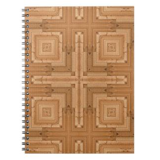 geometric wood design - architect wooden pattern notebook