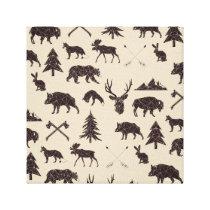 Geometric Woodland Animals   Animal Canvas Print