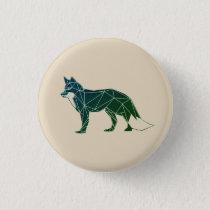 Geometric Woodland Animals | Feelin' Foxy Button