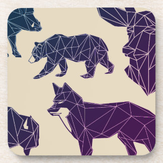 Geometric Woodland Animals | Set of 6 Coasters