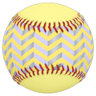 Geometric Yellow Custom Baseball Softball