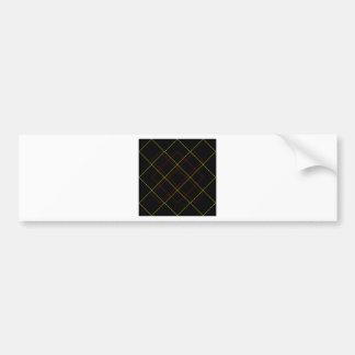 Geometric yellow red lines on black bumper sticker