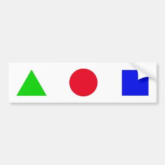 geometric you figure bumper sticker