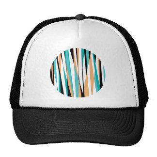 Geometric Zebra Coloured Circle Pattern Trucker Hat