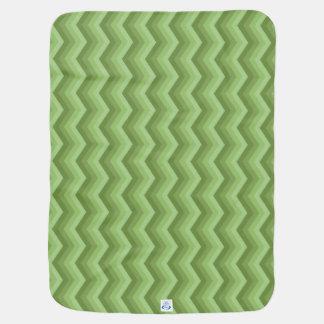 Geometric ZigZag Baby Blanket Green & Sage Green