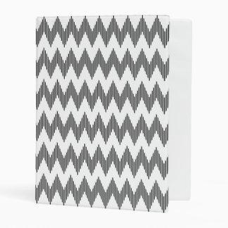 Geometric zigzag pattern 2 mini binder