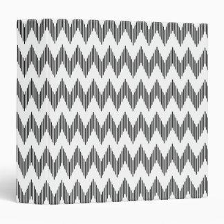 Geometric zigzag pattern binder
