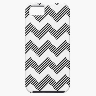 Geometric zigzag pattern iPhone 5 case