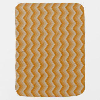 Geometric ZigZag Reversable Baby Blanket in Orange