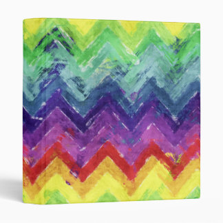 Geometric Zigzag Watercolor Binder