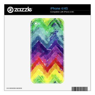 Geometric Zigzag Watercolor Skin For iPhone 4S