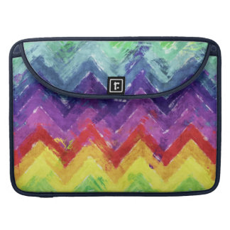 Geometric Zigzag Watercolor Sleeve For MacBook Pro