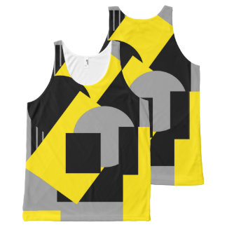 Geometrical abstract art deco mash-up2 All-Over print tank top