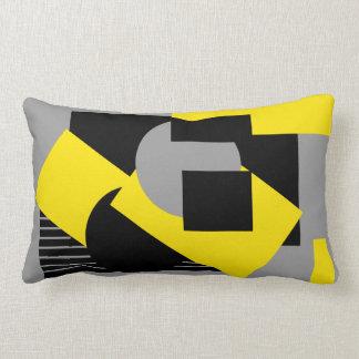 Geometrical abstract art deco mash-up2 lumbar pillow