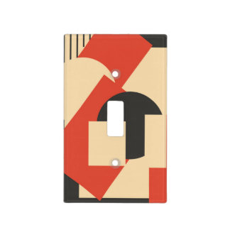 Geometrical abstract art deco mash-up light switch cover