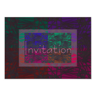 Geometrical Abstract In Multi Colors Card