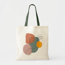 Downbeat Ode to Jazz contemporary triangle art Modern Dynamic Abstract Geometric Multi-purpose bag Minimalist Triangle Tote Bag