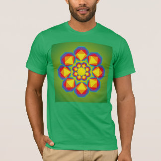 Geometrical bloemvorm T-Shirt