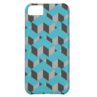 Geometrical Cubes Pattern Cover For iPhone 5C
