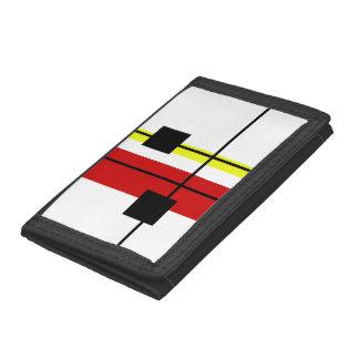 Geometrical design trifold wallet