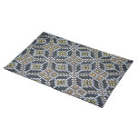 Geometrical Dot painted pattern Placemat Cloth Placemat