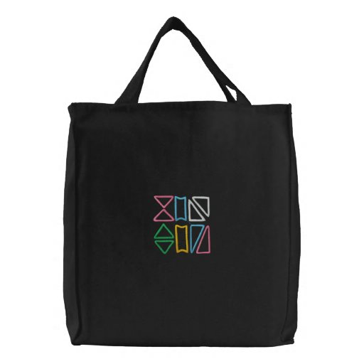 Geometrical Embroidered Tote