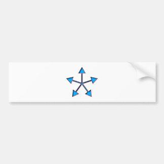 geometrical figure geometric shape bumper sticker