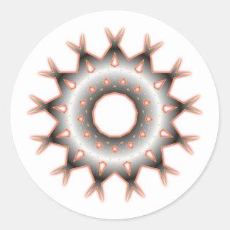 geometrical figure geometric shape classic round sticker